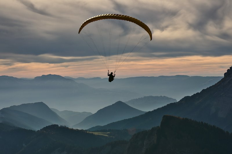 Paragliding above the Chartreuse massif